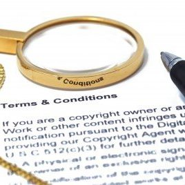 Big magnifying Glass on Contract